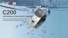 € 67 avec coupon pour Caméra d'action sportive SJCAM C200 4K 24FPS Ultra HD avec écran de 1.28 pouces Casque SONY IMX335 WIFI Caméra étanche Mini Thumb Sports DV de BANGGOOD