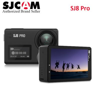 €187 with coupon for SJCAM SJ8 PRO 4K 60fps Action Camera Dual Screen Sport Camera DV Ambarella H22 Chipset Big Box from BANGGOOD