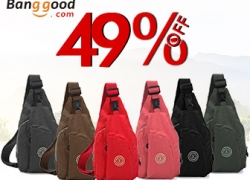 49% OFF Women Men Wash Cloth Casual Bags from HongKong BangGood network Ltd.