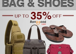 Bags & Shoes Flash Deals Up to 35% OFF from HongKong BangGood network Ltd.