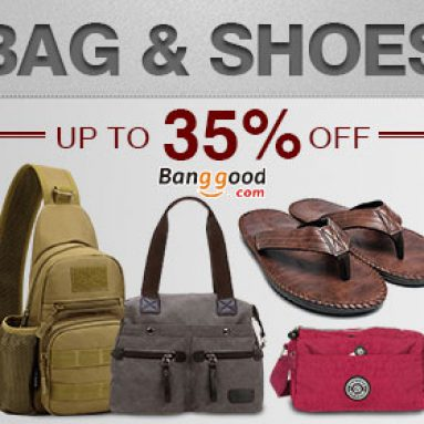 Bags & Shoes Flash Deals Up to 35% OFF from HongKong BangGood network Ltd.