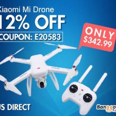 12% OFF Xiaomi Mi Drone RC Quadcopter v US Direct od společnosti BANGGOOD TECHNOLOGY CO., LIMITED