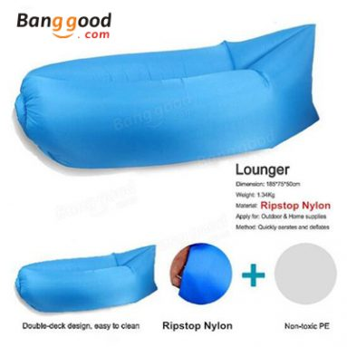 Fast Inflatable Sleeping Daybed Air Camping Sofa Portable Beach Nylon Lazy Chair from BANGGOOD TECHNOLOGY CO., LIMITED