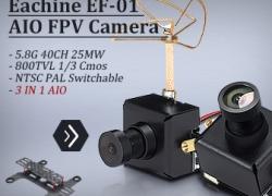 15% OFF Eachine EF-01 AIO 5.8G 40CH 25MW VTX 800TVL 1/3 Cmos FPV Camera from HongKong BangGood network Ltd.