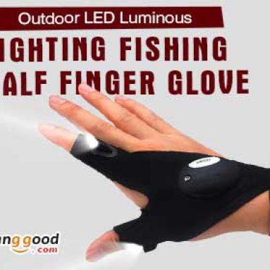 Προ-παραγγελία για πολυλειτουργικό EDC αλιεία δαχτυλίδι γάντι LED επισκευή φακό επιβίωσης υπαίθριο εργαλείο διάσωσης από το HongKong BangGood δίκτυο Ε.Π.Ε.