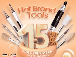 Cyber Week:15% Off Coupon for Hot Brand Electronics Tools  from BANGGOOD TECHNOLOGY CO., LIMITED