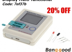 Extra 20% OFF Display Multi-functional TFT Backlight Transistor Tester from BANGGOOD TECHNOLOGY CO., LIMITED