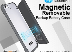 20% OFF IYH Magnetic Ultra Thin 3000mAh Backup Battery For iPhone 6 6S from BANGGOOD TECHNOLOGY CO., LIMITED