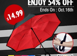 KCASA UB-1 Creative Reverse Double Layer Umbrella Folding Inverted Windproof Car Standing Rain Protection from BANGGOOD TECHNOLOGY CO., LIMITED