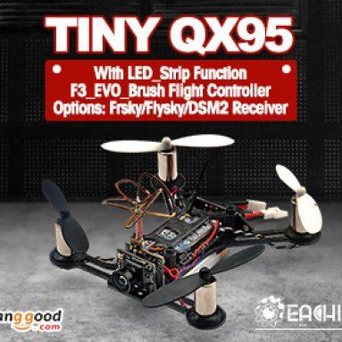 Hver sin lille QX95 Micro FPV LED Racing Quadcopter Basert på F3 EVO Børstet Flight Controller fra BANGGOOD TECHNOLOGY CO., LIMITED