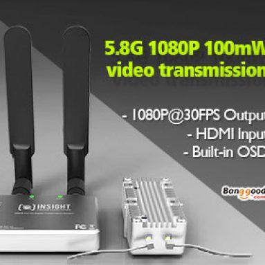 21% OFF Insight 5.8G 1080P 100mW Digitální přenos videa digitálního videa od společnosti BANGGOOD TECHNOLOGY CO., LIMITED