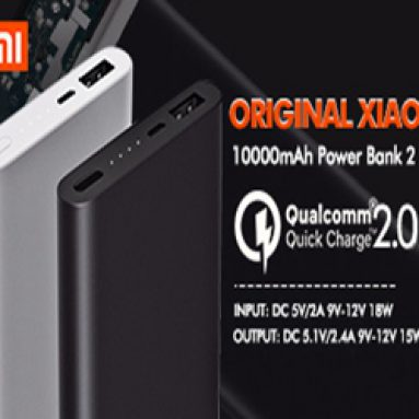 Extra 10% OFF Xiaomi Power Bank 2 With10000mAh from BANGGOOD TECHNOLOGY CO., LIMITED