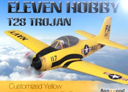 10% OFF for Eleven Hobby T-28 T28 Trojan Customized Yellow Warbird PNP from BANGGOOD TECHNOLOGY CO., LIMITED