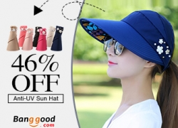 Up to 58% OFF for Summer Outdoor Anti-UV Beach Sunscreen Sun Hat from BANGGOOD TECHNOLOGY CO., LIMITED