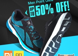 50% OFF XIAOMI 90 Men Point Ultra Smart Sports Shoes from BANGGOOD TECHNOLOGY CO., LIMITED