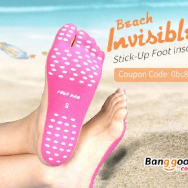 $ 3.99 pro Beach Invisible Stick-Up Foot Insole Vodotěsné Ochranné Ponožky Pad od společnosti BANGGOOD TECHNOLOGY CO., LIMITED