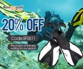 Only $23.75 for Adult Swimming Fins from BANGGOOD TECHNOLOGY CO., LIMITED