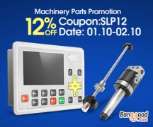12% OFF for Machinery parts Promotion from BANGGOOD TECHNOLOGY CO., LIMITED