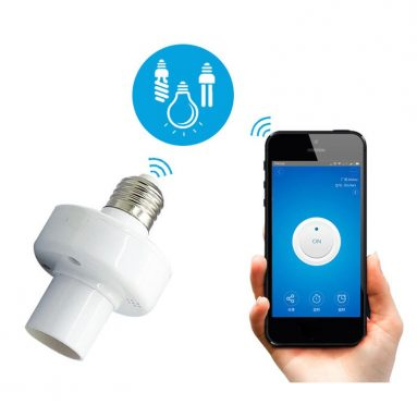€9 with coupon for SONOFF® Slampher E27 WiFi Bulb Adapter Smart APP Holder Socket Work With Alexa Google Home AC90-250V from BANGGOOD