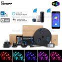 € 14 s kupónem pro SONOFF L1 Stmívatelné IP65 2M 5M Inteligentní WiFi RGB LED pásová LED sada pro práci s Amazon Alexa Google Home - 5M od BANGGOOD