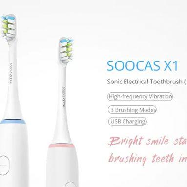 $ 27 với phiếu giảm giá cho SOOCAS X1 Sonic Bàn chải đánh răng điện Dental Care - WHITE INTERNATIONAL VERSION từ GearBest