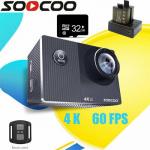 SOOCOOF38RウルトラHD91K4fpsリモートコントロールWIFIアクションカメラ水中防水ビデオスポーツカメラのクーポン付き€60BANGGOODのタッチスクリーン付き