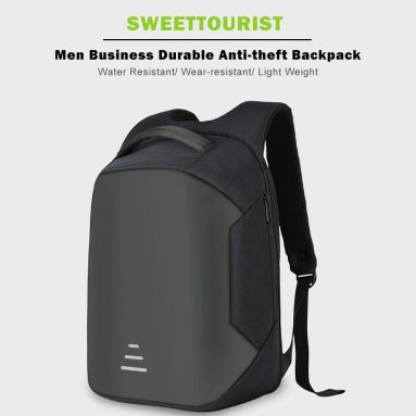 $29 with coupon for SWEETTOURIST Men Business Durable Anti-theft Backpack – SLATE GRAY from GearBest