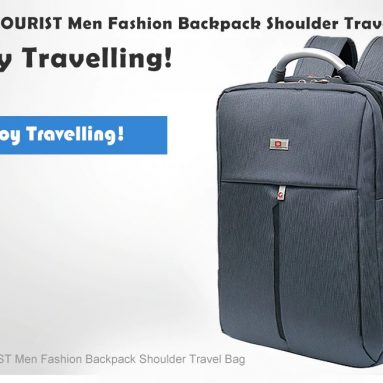 $21 with coupon for SWEETTOURIST Men Fashion Backpack Shoulder Travel Bag – JET BLACK from GearBest