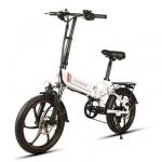 Samebike 699LVXD20 स्मार्ट फोल्डिंग इलेक्ट्रिक मोपेड बाइक ई-बाइक के लिए कूपन के साथ $ 30 - गियरबेस्ट से सफेद ईयू प्लग