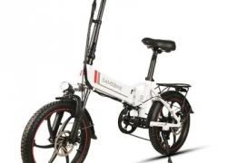 $ 629 με κουπόνι για Samebike 20LVXD30 Ηλεκτρονικό ποδήλατο με ηλεκτρικό ποδήλατο με μοτοσυκλέτα - λευκή EU PLUG από GearBest