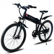 € 585 z kuponem na rower elektryczny Samebike LO26 Inteligentny rower składany - CZARNA PLUGA EU od GearBest