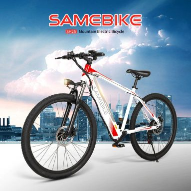 $559 with coupon for Samebike SH26 High Carbon Steel Mountain Electric Bicycle from GEARBEST