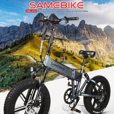 AB GER deposu TOMTOP'tan Samebike XWXL979 09 İnç Katlanır Elektrikli Bisiklet için kuponlu € 20