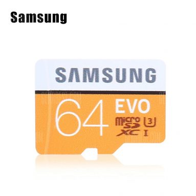 $21 with coupon for Samsung EVO Ultra Micro SDXC UHS-3 Professional Memory Card  –  64GB  ORANGE + WHITE from GearBest