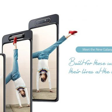 € 388 s kupónem pro Samsung Galaxy A80 4G Phablet 8GB RAM 128GB ROM Originální mezinárodní verze - černá od GEARBEST