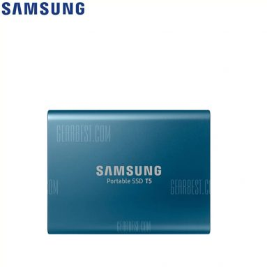 $209 with coupon for Samsung T5 Portable SSD with USB 3.1 / Hardware Encryption  –  500GB  LAKE BLUE from Gearbest