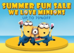 Minions Summer sale – 70% off on Minions products from Everbuying