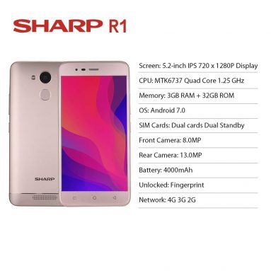 € 59 avec coupon pour Sharp R1 Version pour Smartphone Version Mondiale 3GB RAM 32GB ROM de BANGGOOD