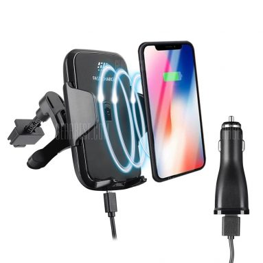 $12 flash sale for Siroflo F12 Wireless Fast Car Charger  –  BLACK from GearBest