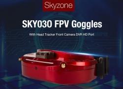 स्काईजोन SKY386O के लिए कूपन के साथ 03 3D 5.8G 48CH विविधता FPV काले चश्मे - GEARBEST से काला