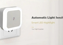 $0.99 with coupon for Smart LED Night Light Bedroom Induction Lamp – White EU Plug from GEARBEST
