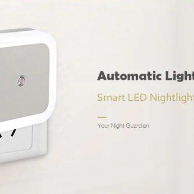 $ 1 sa kupon para sa Smart LED Night Light Bedroom Induction Lamp - White EU Plug mula GEARBEST