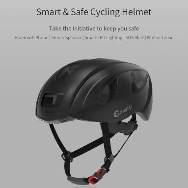 €58 with coupon for Smart4u SH55M Helmet 6 LEDs Warning Light SOS Alert Walkie Talkie for Outdoor Cycling from Xiaomi youpin – White from GEARBEST