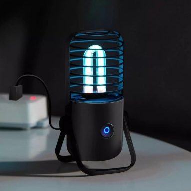 16 אירו עם קופון למנורת מעקר שחור Smartda UV + אוזון חיטוי כפול צינור אור לחיטוי נגיף חיידקי מ- XIAOMI Youpin מבנגגוד