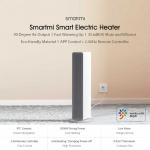 112 € עם קופון עבור Smartmi ZNNFJ07ZM דוד חשמלי שלט רחוק אלחוטי 2 מצבים 4 תזמון מינוי הילוכים 2000 W רעש Mijia APP מ- Xiaomi Youpin למשרד ביתי מ BANGGOOD