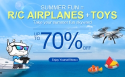 70% OFF on RC Airplanes & Toys from DealExtreme