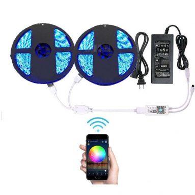 $ 33 với phiếu giảm giá cho đèn LED Strip không thấm nước được kiểm soát thông minh Supli Wifi - RGB từ GearBest