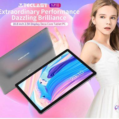 154 € με κουπόνι για TECLAST M18 4G Tablet PC 10.8 ιντσών Heilo X27 Ten Core 4 GB RAM 128 GB SSD 13MP Πίσω κάμερα 8000mAh Μπαταρία μεγάλης χωρητικότητας από τη GEARBEST