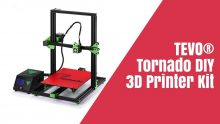 $287 with coupon for TEVO® Tornado DIY 3D Printer Kit 300*300*400mm Large Printing Size 1.75mm 0.4mm Nozzle Support Off-line Print – 110V US warehouse from BANGGOOD