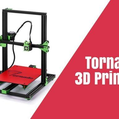 182 € avec coupon pour Kit d'imprimante 3D TEVO® Tornado DIY 300 * 300 * 400mm Grande taille d'impression 1.75mm 0.4mm Support de buse Impression hors ligne - Entrepôt EU CZ de BANGGOOD